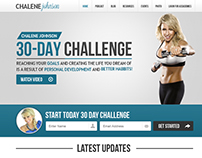 Chalene Johnson Blog Design