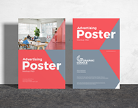 Free Advertising Poster Mockup PSD