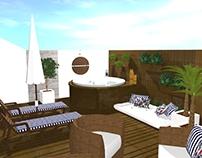 PROJETO: terraço de uma residência