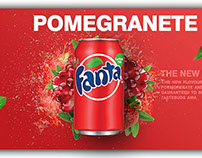 Fanta Pomegranate Advertisment Concept
