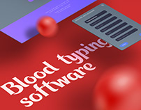 Blood typing software. Medical lab device.