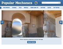 Popular Mechanics responsive website