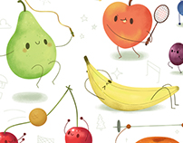 Workout Fruits Poster
