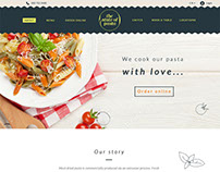 Web-design for a pasta rastaurant