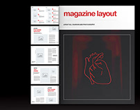 Red Lifestyle Magazine Layout