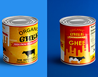 Organic GHEE Pack Design