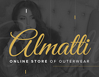 Web design for online store of outerwear Almatti