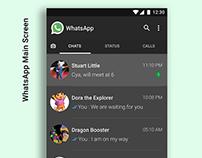 WhatsApp Dark Theme Design