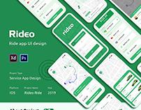 Car Ride App (Ride Sharing App) UI Design
