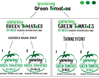 Logo Comps for Growing Green Tomatoes