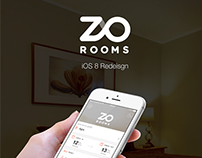 ZO Rooms iOS Redesign Concept