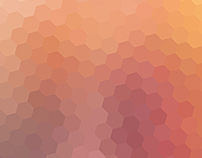 Freebie: 5 blurred hexagon backgrounds