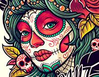 Illustration for tattoos