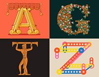 Variable Color Font Initials
