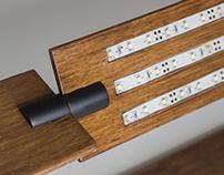 BENT // Curved Wood Desk Lamp