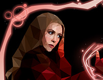 Scarlet Witch Low Poly Art