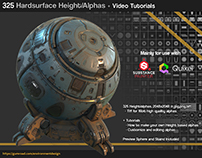 325 Sci fi Height/Alpha brushes + Tutorials