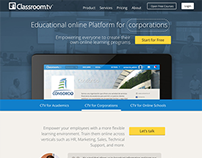 ClassroomTV landing page