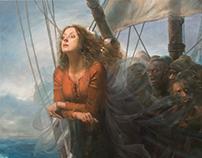Mascarón de proa 3. Oil/Alkyd on canvas 114 x 116 cm.