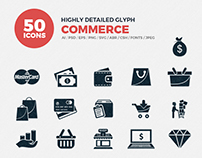 JI-Glyph Commerce Icons Set