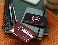 business card design for lawyer office
