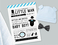 Baby Shower Invitation   Mustache Theme