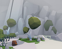 Unity3D - Cartoon low poly forest
