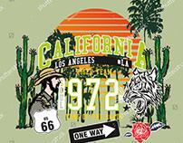 CALIFORNIA ROUTE 66 VECTOR ART