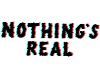 Logo for Nothing's real by Shura-Handmadefont challenge