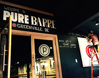 Hand lettering for Pure Barre Greenville