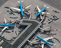 """KLM Pier Number One"" at Schiphol Airport - Complete CG"