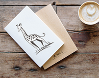 Giraffe graphics vector illustration. Design postcards,
