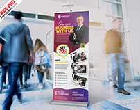 Creative Roll-Up Banner Design PSD