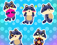 Animated Rhino stickers