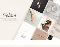 Gehna- Jewellery Brand Social media posts