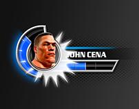 WWE All Stars: user interface design