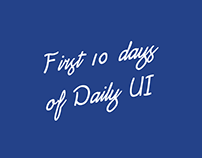 First 10 days of Daily UI