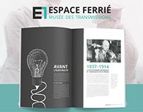 "Brand Identity, ""Espace Ferrié"" Museum"