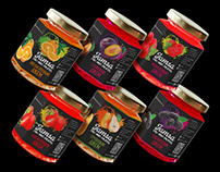 Creating a packaging design for the Jamsa fruit jam