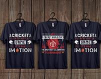 Cricket T-shirt Design Bundle