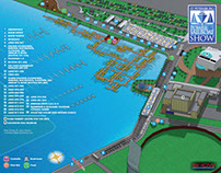 Illustrated  Boat Show Map