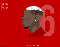 "paul pogba ""Flat Art"""