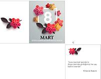 8 Mart Dünya Kadınlar Günü şirket kutlama kartları