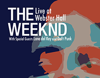 The Weeknd Concert Poster