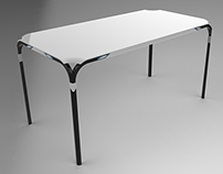 Open Corners: A Collapsible Table Design