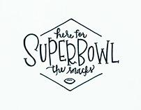 Super Bowl Snacks –Lettering
