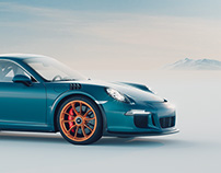 Porsche 911 GT3 RS 3D visualization