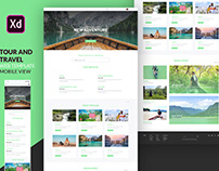 Travel website UI landing page