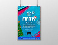 Plakat - Gminny turniej FIFA