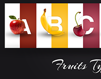 Fruits Typo Poster